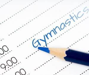 Be on time for the start and end of gymnastics classes