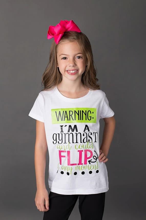 5b9e1be9b Warning I m A Gymnast - T-Shirt