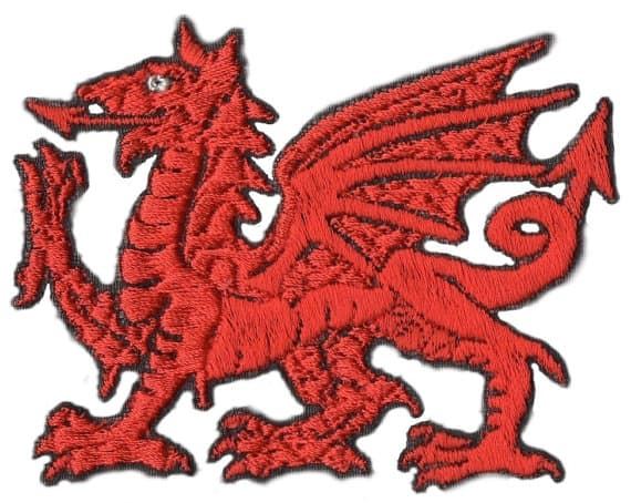 Welsh Dragon Iron On Embroidered Patch Badge Mr Gymnastic