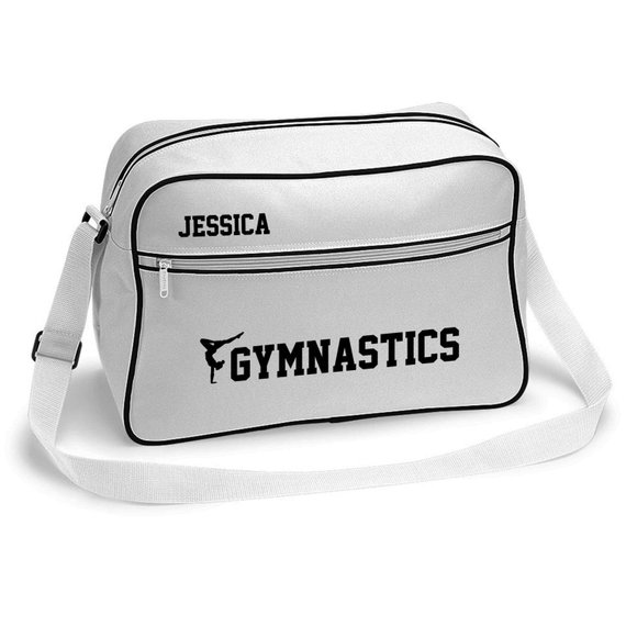 20fb9a776cab Personalised Retro Sports Gymnastics Bag - Girls