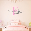Personalised Gymnastics Name Wall Art Decal