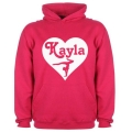 Personalised Gymnast Heart Design Hoodie